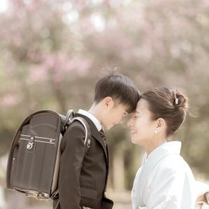 入学記念の写真撮影。