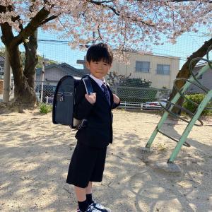 長男 入学式。