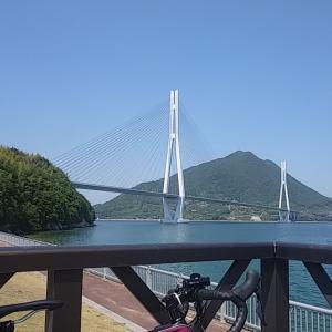 しまなみ海道 大三島と伯方島一周の74キロ