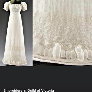 モスリンのドレス