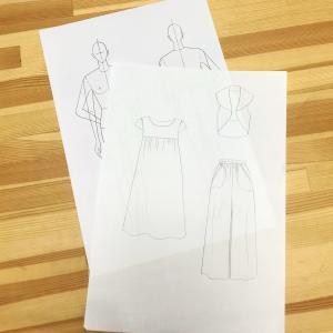 【ワークショップ】作りたい服の絵を描こう!ハンガーイラスト・平絵講座