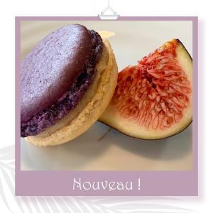 Macaron à la figue@MATYASY南フランス季節の果物イチジクのマカロンが人気