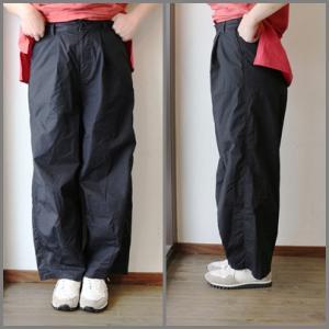 裾ダーツバルーンパンツ