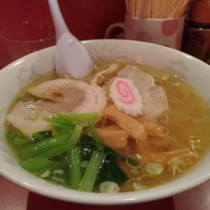 函館で「黄金塩ラーメン」をたべました