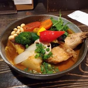 スープカレー「チキンと一日分野菜20品目」@「Rojiiura Curry Samurai」