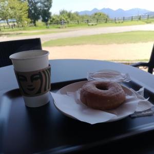 宮島サービスエリアでコーヒーブレイク