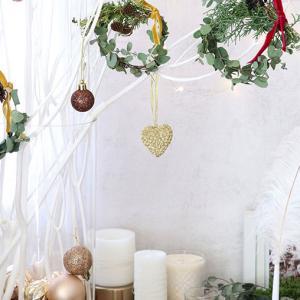 ダイソーオーナメント&LEDライトでかわいいクリスマス♪