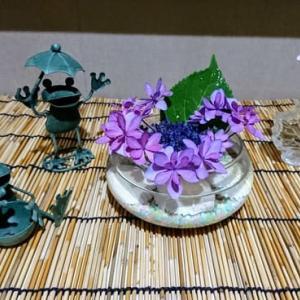 家の中の紫陽花づくし