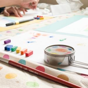 【お客様の声】自分の感情のまま表現できました『初めての方のための虹色ことだまアート体験講座』