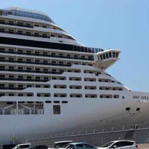 巨大なクルーズ船