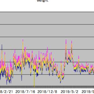 各種統計(体重・貸株金利・忍者ポイント)2021年7月