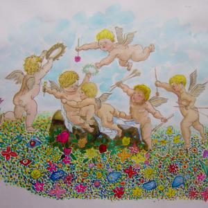 水彩「春の讃歌」