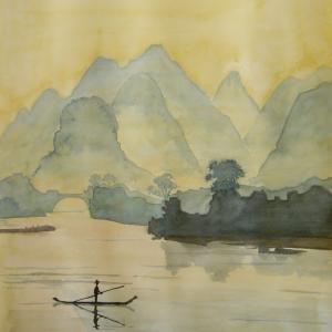 水彩「桂林ーーー2」