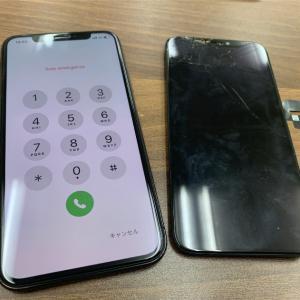 【修理事例】iPhoneX画面割れ修理!データそのままで当日修理可能!船橋市スマホ修理