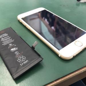 iPhone6Sのバッテリーを交換!!さらに2年使えます!