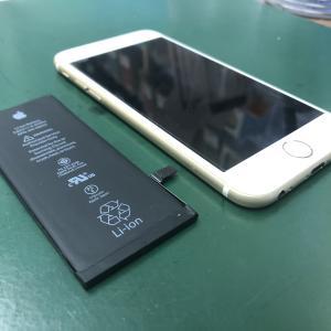 iPhone6Sのバッテリーを交換しました!何度も落ちるようになったので・・・
