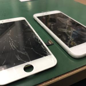 iPhone7のフロントパネルを交換しました!全面にヒビが・・・