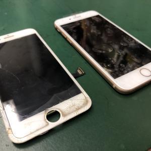 iPhone8のフロントパネルを交換!! 動かせない状況から復活!