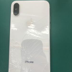 【修理事例】iPhoneX落下してバッキバッキでも直します!