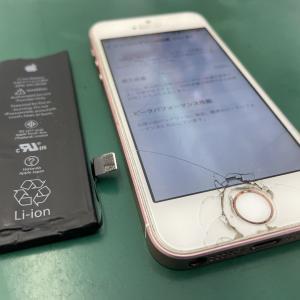 iPhoneSEのバッテリーを交換!根強いユーザーが多い端末です!
