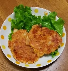 ユン食堂 2 で見た  キムチチヂミ作ってみました(*^_^*)