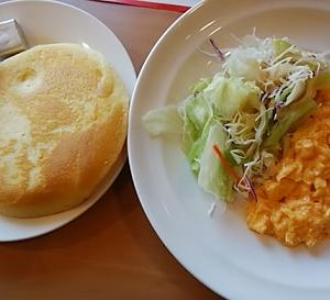 パンケーキモーニング(^_-)-☆
