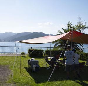 オーシャンビューでお気に入りなキャンプ場ですが、平地の9月は暑いわ、孫太郎AC、その1