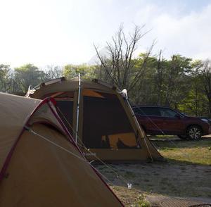 GW後半キャンプ、暑いのか、寒いのか、休暇村奥大山鏡ヶ成キャンプ場、その1