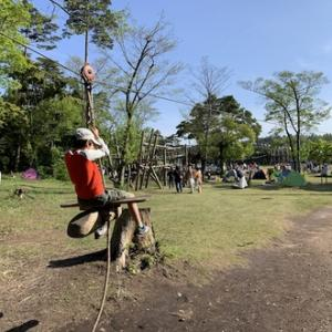 GW後半キャンプ、子供のパラダイスへ、休暇村奥大山鏡ヶ成キャンプ場、その3