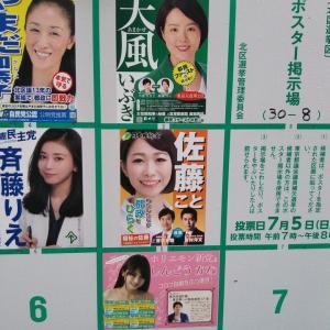 令和2年北区都議補選まとめ、5人の美女の行く末について