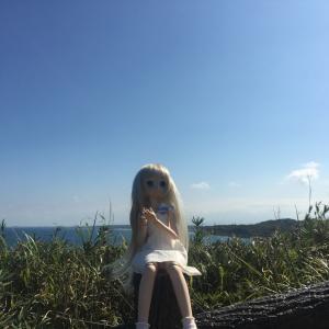 海の上のブルーインパルス