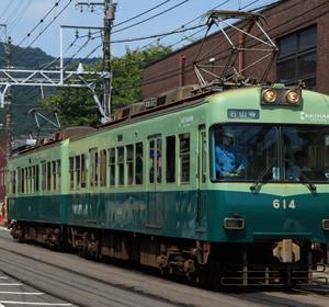 三井寺の京阪電車