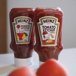 ハインツのスヌーピーデザインが施されたトマトケチャップ