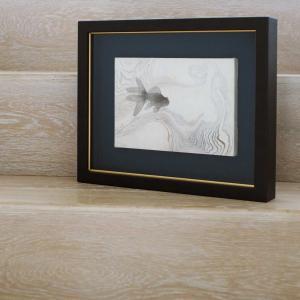 木下千春さんの日本画『墨流金魚』22.7×15.8セ