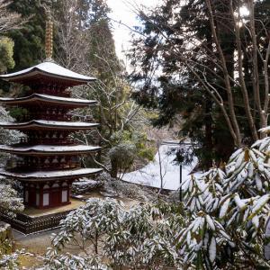 雪の奈良2021 淡雪積もる室生寺(後編)