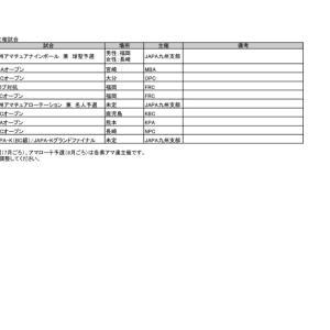 2020年JAPA(アマ連)主催試合日程のお知らせ