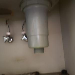 排水トラップの交換事例。