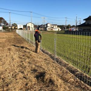 フェンス設置作業!今までで最速!?(^ム^)