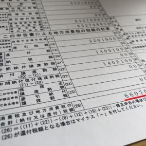 660万!消費税納付額に驚愕!!(゜o゜;)