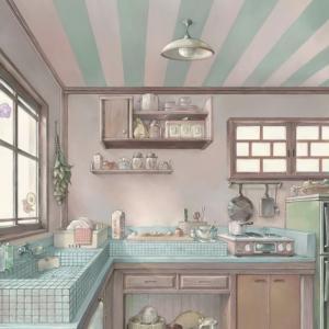 レトロ風キッチン。