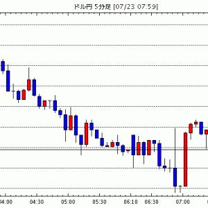 [予想]7月23日(木)■『金融市場のリスクオンの流れ』と『米ドル売りの流れ』、そして『日本が連休入りとなる…他、今日これからのドル円見通し