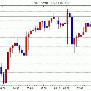 [予想]【速報】NZ・6月貿易収支:+4.26億NZドルで黒字額は市場予想をやや下回る / 7月24日(金)…他、今日これからのドル円見通し