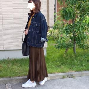 安いのに期待以上だった!2000円以下の秋色プリーツスカートでお出かけコーデ♪