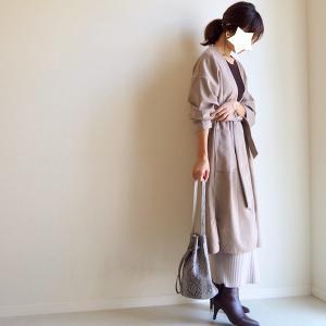 リエディの3000円以下ブーツが思いの外良かった!GU1490円ニットスカートで秋色コーデ。