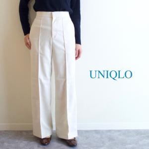 【UNIQLO】履くだけで綺麗めが叶う!お仕事にも良さそうなハイウエストワイドパンツ