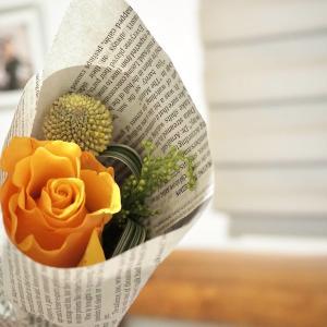 ポストに届いたお洒落すぎるミニブーケ! #こういう時こそお花を飾ろう