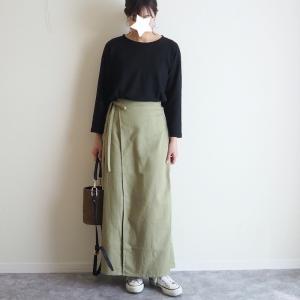 これから夏くらいまで履けそう!大人可愛いラップ風スカート♪