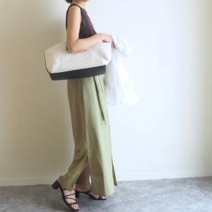 【GU】990円ノースリT着回し!スカートに合わせて女っぽく