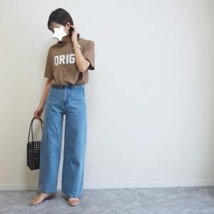 ボーイッシュ感が可愛い♡韓国ブランドNANING9の大人気ロゴTシャツ