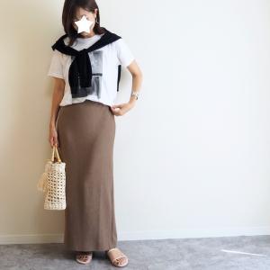 買って良かった♩Tシャツコーデが大人っぽくこなれたリエディのタイトスカート